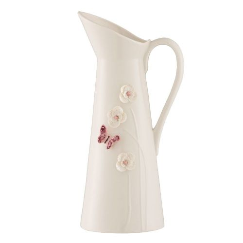 Belleek Living Blush Butterfly Meadow Pitcher